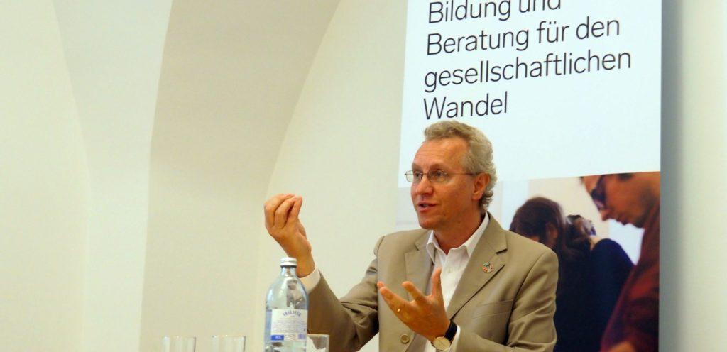 Alfred Strigl beim ksoe-Frühstück am 23.5.2018